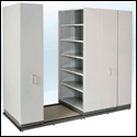 manually assisted mobile shelving