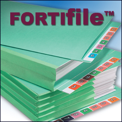 durable, environmentally-friendly file folder - FORTIfile
